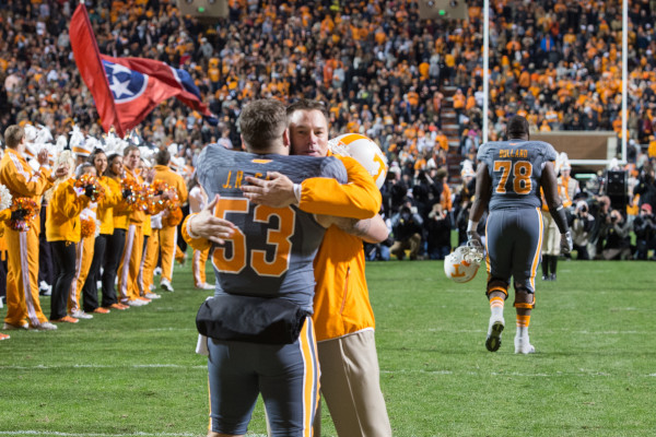 Senior Day Announcements at the SEC matchup between the Vanderbilt Commodores and the Tennessee Volunteers at Neyland Stadium in Knoxville, TN. Photo By Matthew S. DeMaria:Tennessee Athletics