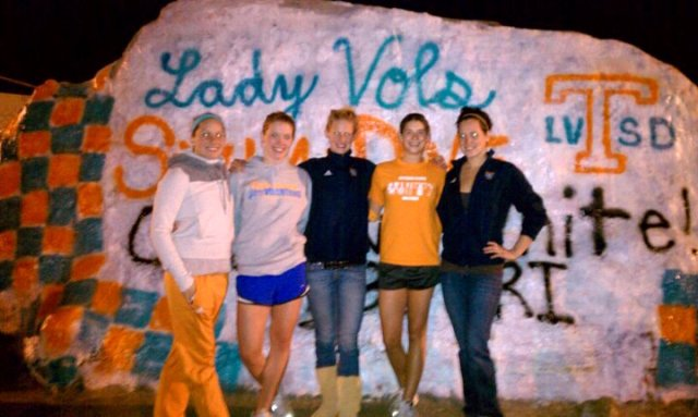 Lady Vol-seniors-the rock